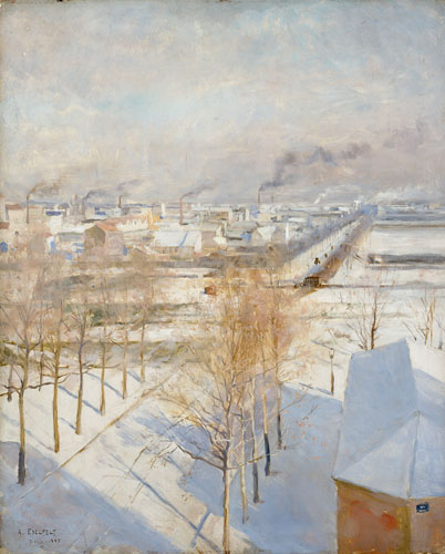 Paris i snö - Finlands Nationalgalleri / A II 1503 (46x37 cm)
